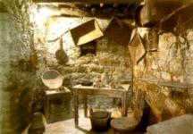 l'interno della cascina del percorso metato a Vallombrosa Firenze