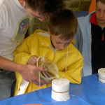 come fare candele cera - colata nello stampo