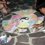Uno dei mandala realizzati dai ragazzi al campo estivo del Mastio